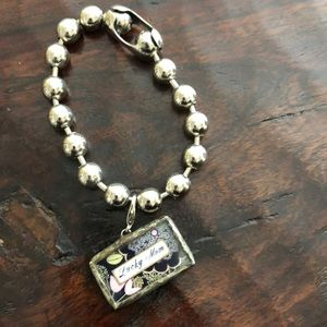 Beaded bracelet with mom charm